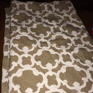 2 panels of beige and cream curtains, Target Brand